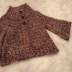 Free People Chunky Knit Big Button Cardigan